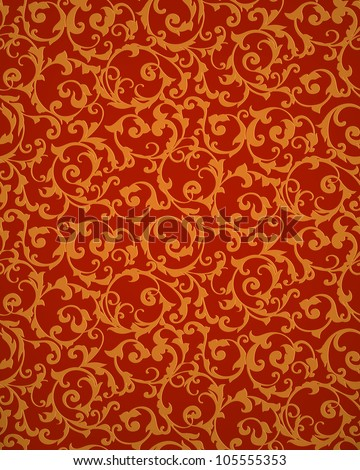 Red seamless pattern, vector