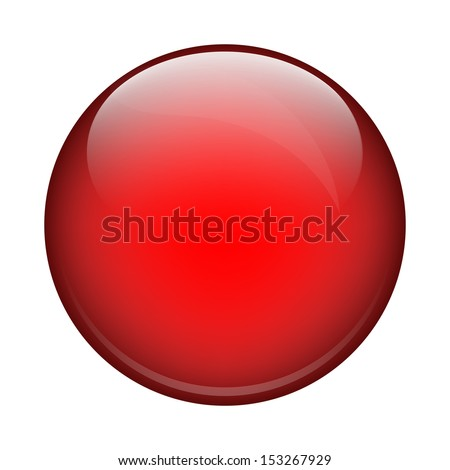 red shiny ball