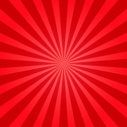 Red shiny starburst background. Sunburst abstract texture.Vector illustration.
