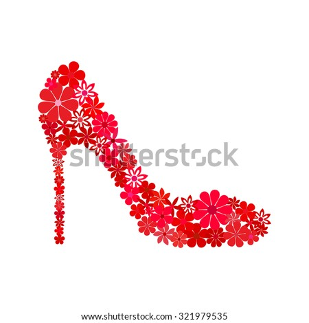 red shoe on a high heel