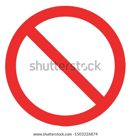 red, simple, flat, modern, clean stop, cancel, block, no, stoppage, quit, remove, delete,take away, cancelled icon, design element for all boards, designs. Foto stock ©