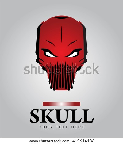 red skull alien predator