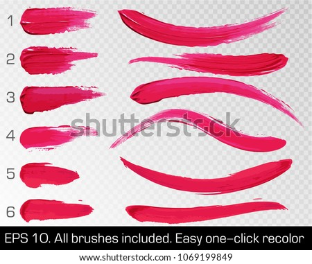 red smears lipstick set texture