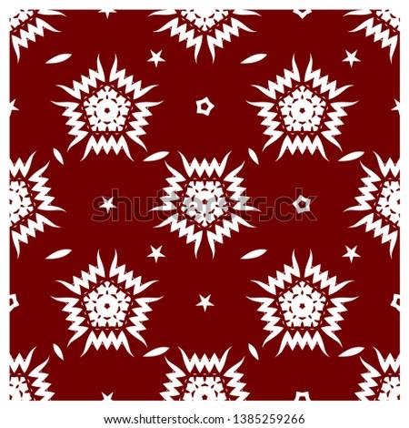 Red snowflake pattern - Snowflake vector pattern