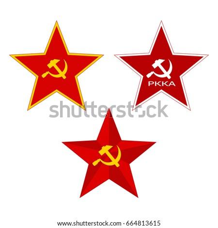 red soviet stars set on a