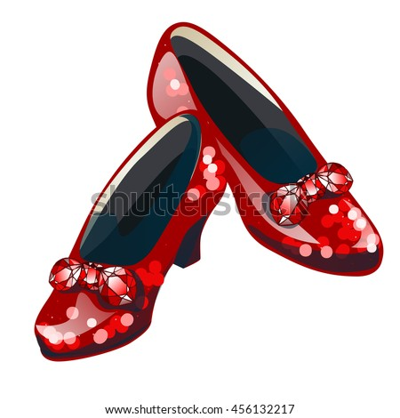 red sparkly shoes with inserts