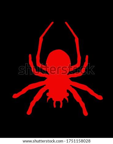 red spider symbol tarantula