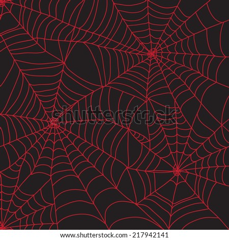 Red spider web for Halloween