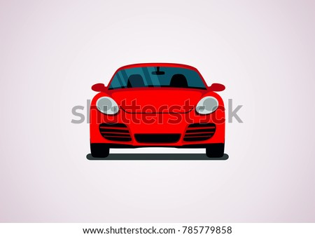 red sports car front view