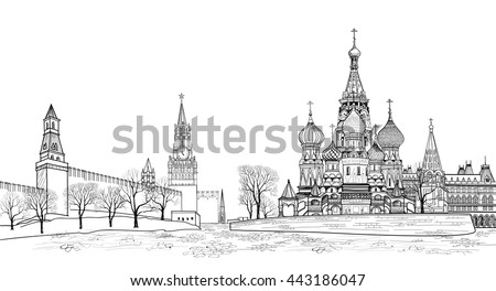 red square view  moscow  russia