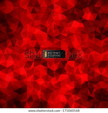 red stained glass vector