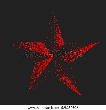 red star abstract symbol of
