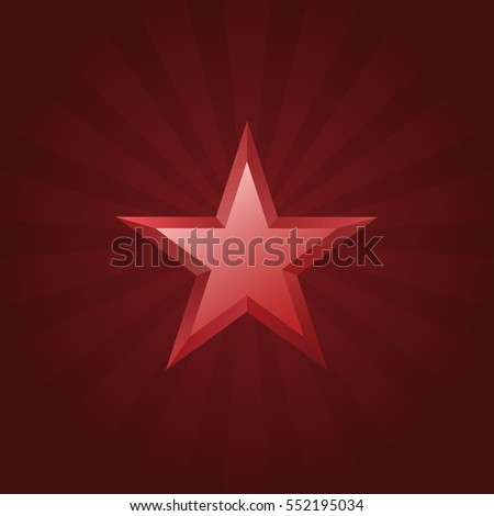 red star logo christmas sign