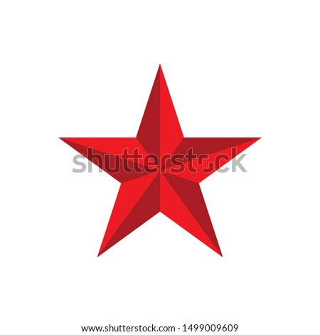 red star logo vector isolated