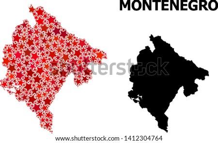 Montenegro Map 75 Free Vectors To Download Freevectors