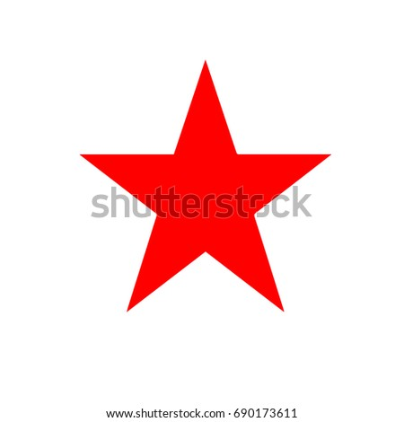 red star   vector icon