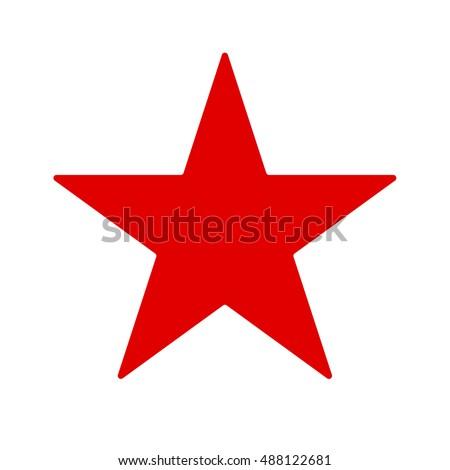 Shutterstock Red star. Vector illustration.