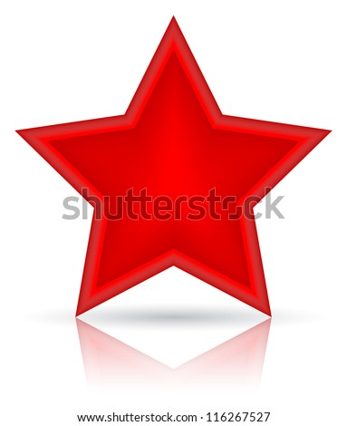 red star vector illustration