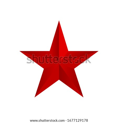 red star vector isolated