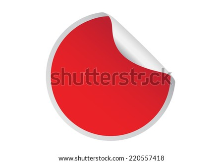 red sticker isolated on white background.vector illustration. #220557418