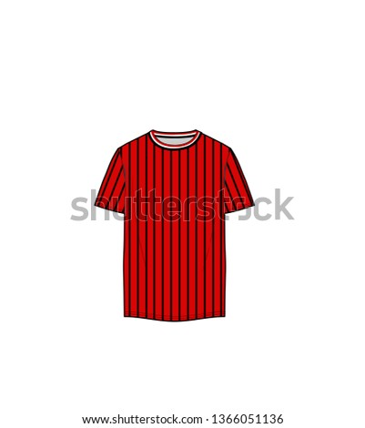 red striped tee shirt