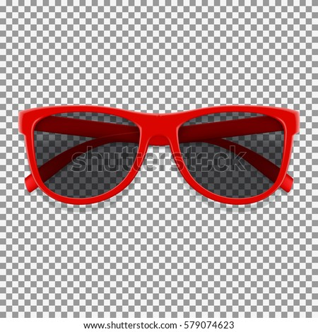 red sun glasses isolated on