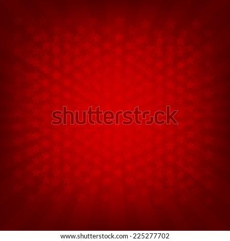 Red Sunburst Banner With Gradient Mesh, Vector Illustration