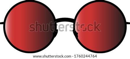red sunglasses summer sun color  Stok fotoğraf ©