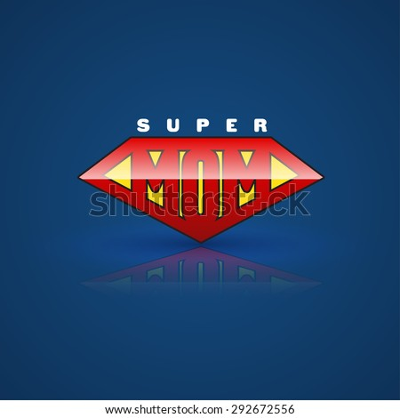red super mom shield super
