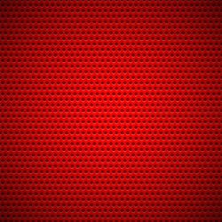 Red technology background with seamless circle perforated plastic (carbon) speaker grill texture for internet sites, web user interfaces (??), applications (apps) and business presentations. Vector.