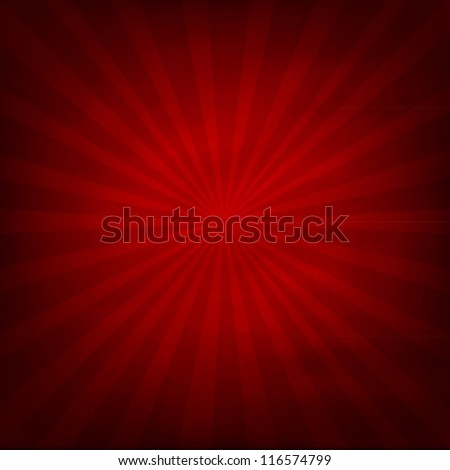 Red Texture Background With Sunburst, Vector Illustration - Shutterstock ID 116574799