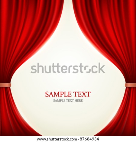 Red theater curtain vector background eps 10.