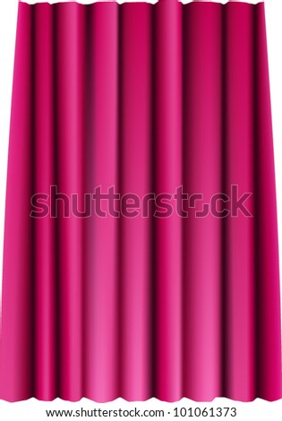 Red theater vector curtain