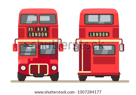 red traditional london bus...