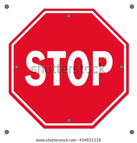 red traffic stop sign stop sign