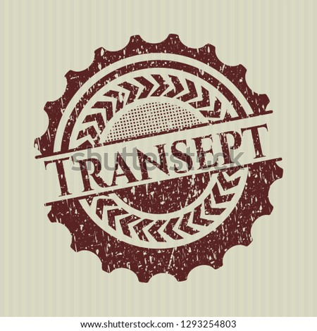 Red Transept rubber stamp with grunge texture