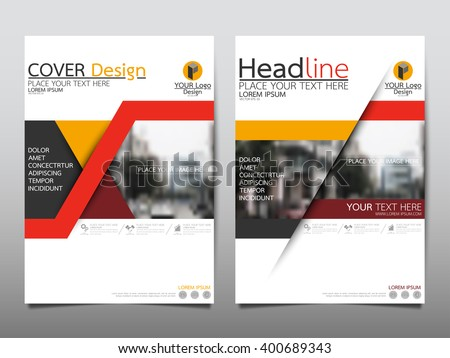 Business cover page template design download free vector art red triangle annual report brochure flyer design template vector leaflet cover presentation abstract flat background pronofoot35fo Images