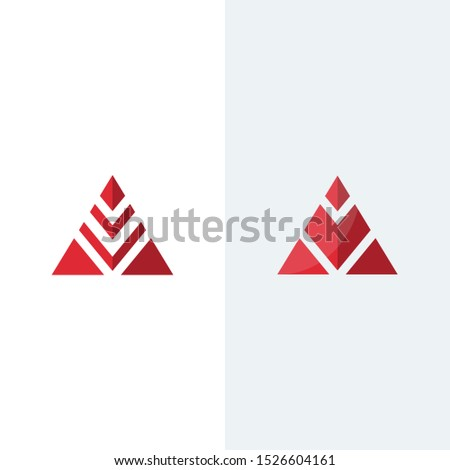 red triangle vector, red triangle logo
