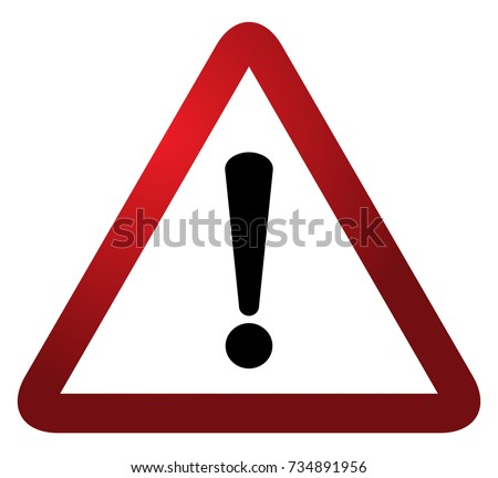 red triangle warning alert sign