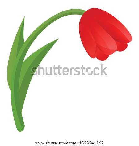 red tulip icon cartoon of red