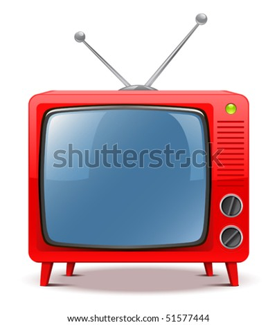 Red TV-set