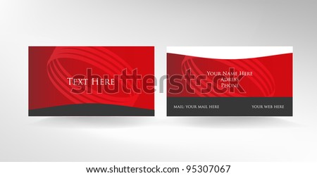 Two Sided Business Card Vector Design - Download Free Vector Art ...