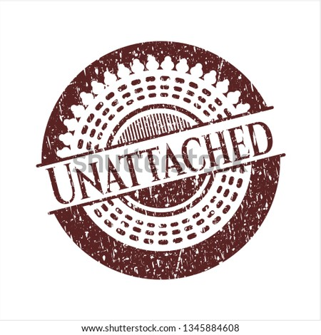 Red Unattached distress grunge stamp Stockfoto ©