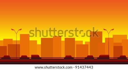 red urban transport background