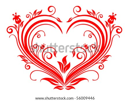 picture of valentine heart. Red valentine heart.