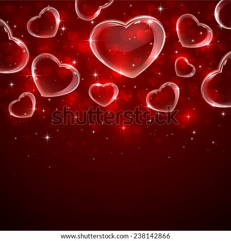 red valentines background with