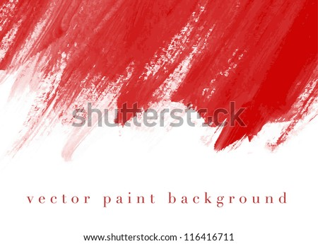 Red vector abstract hand painted watercolor daub background