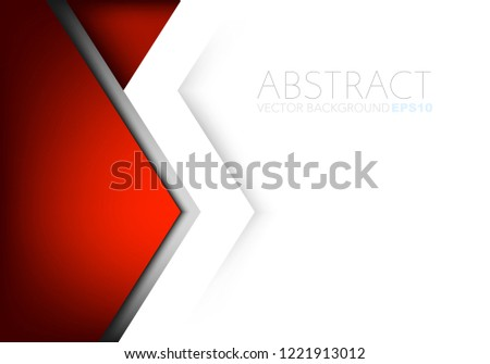Red vector background geometric element with white space for background design #1221913012