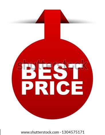 red vector banner best price