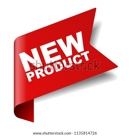 red vector banner new product